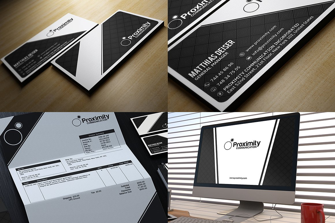 Black And White Corporate Identity example image 5