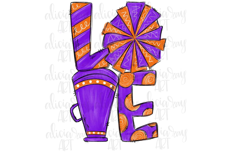 Cheer Love Powder Purple and Orange example image 1
