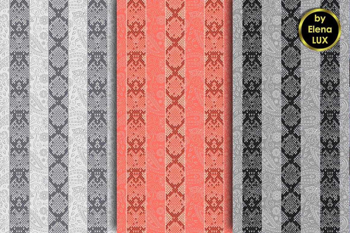 Snakeskin Seamless Big Set example image 5