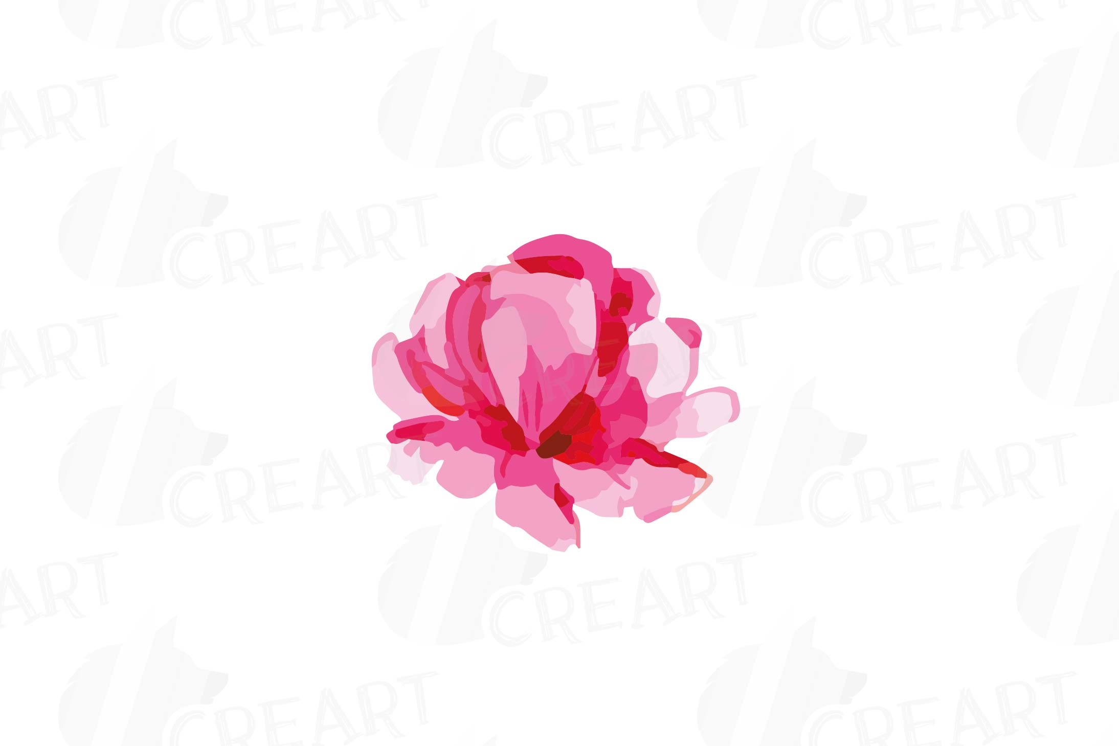 Watercolor Pink and Blue Roses and leafs clip art pack, png example image 17
