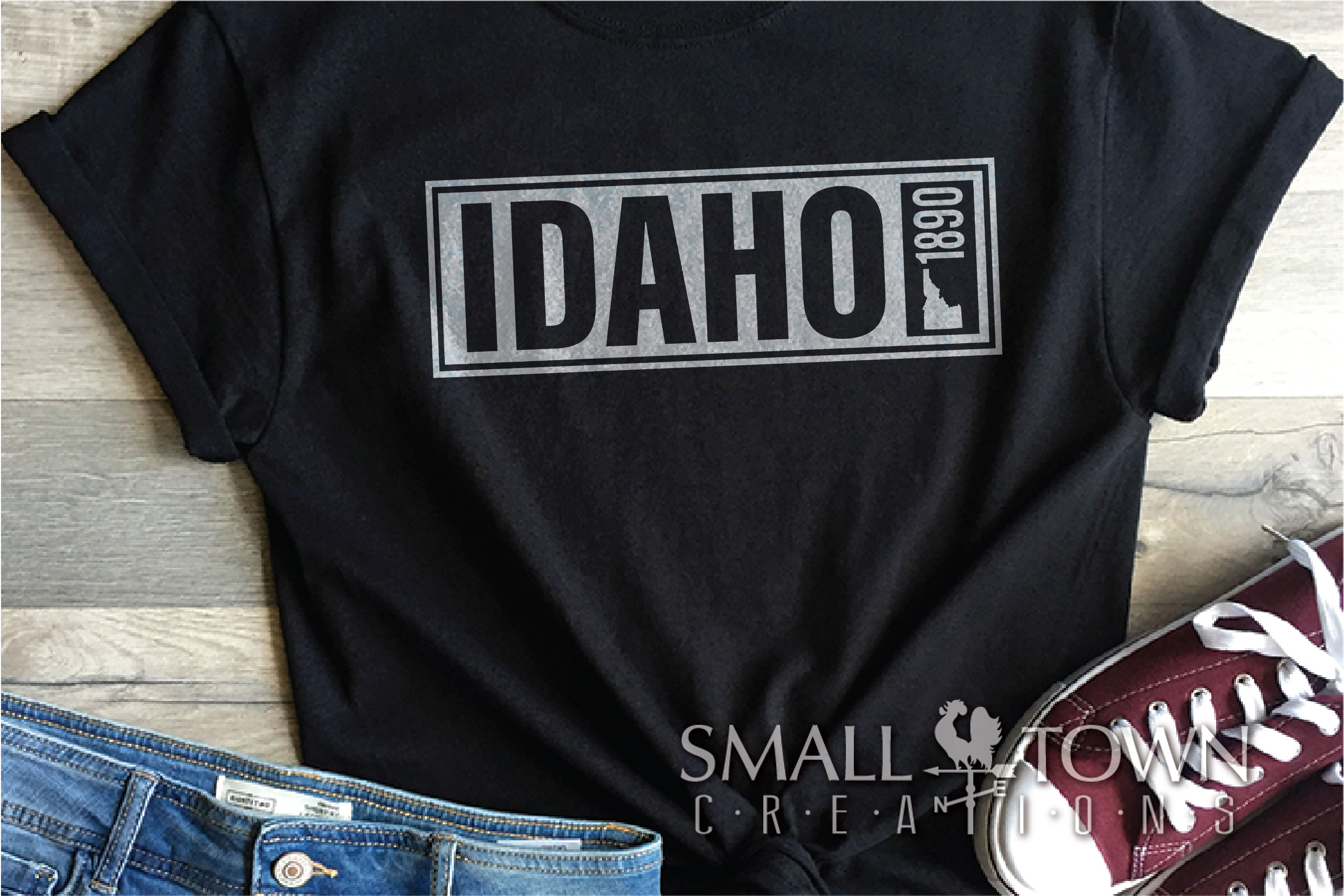 Idaho, Famous Potatoes- slogan, Logo, PRINT, CUT & DESIGN example image 2
