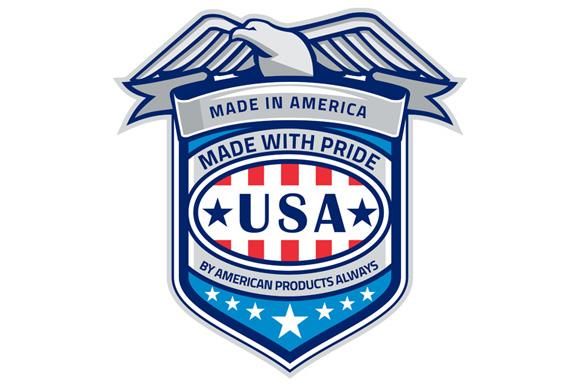 Made In America Eagle Patriotic Shield Retro example image 1