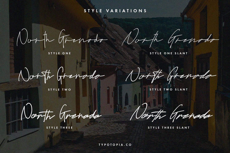 North Grenada Handwritten Script Fonts example image 2