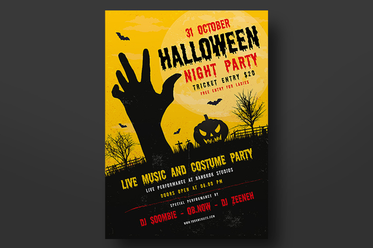 Halloween Party Flyer Template example image 3