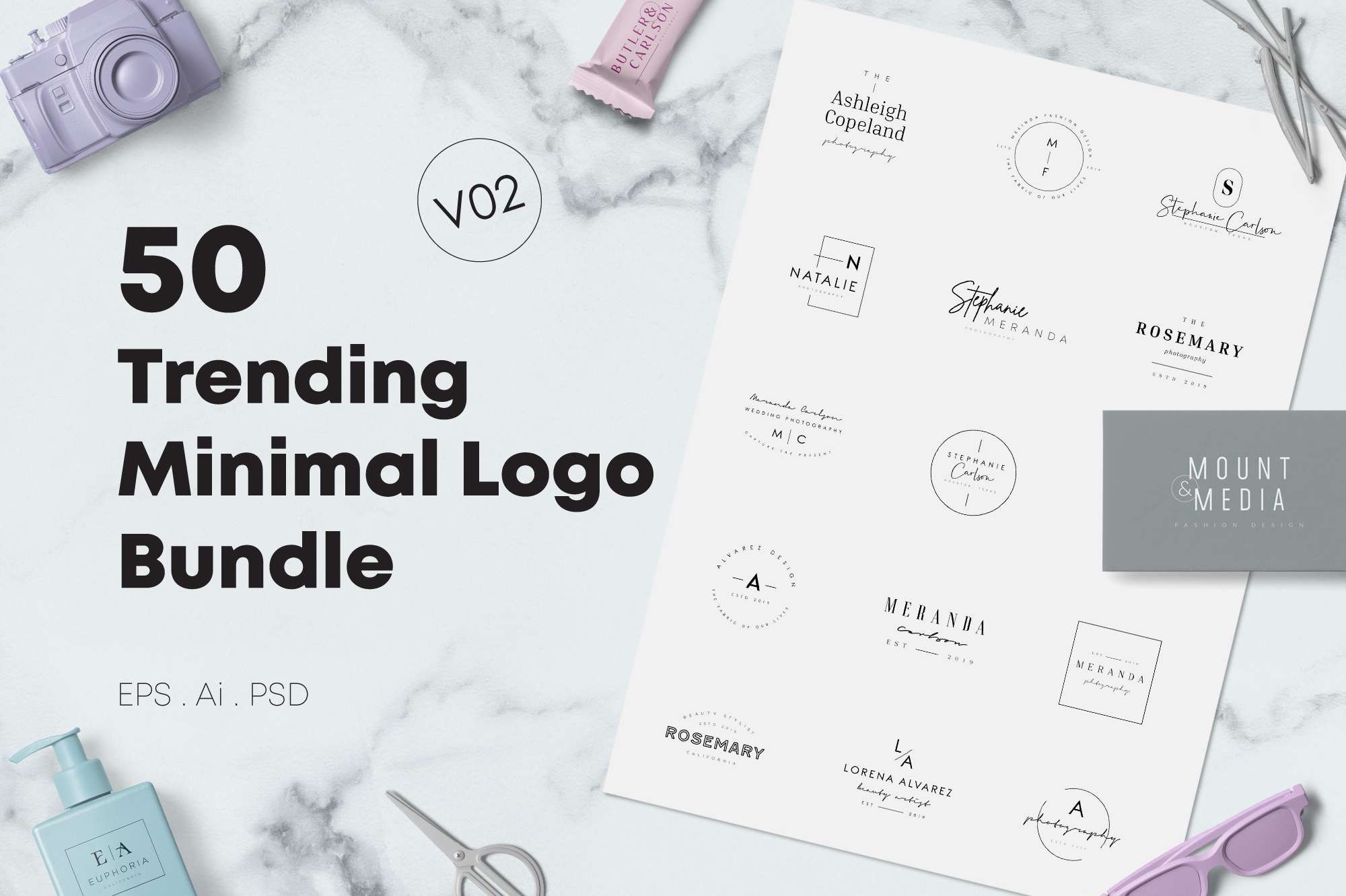 200 Trending Minimal Logo Bundle example image 12