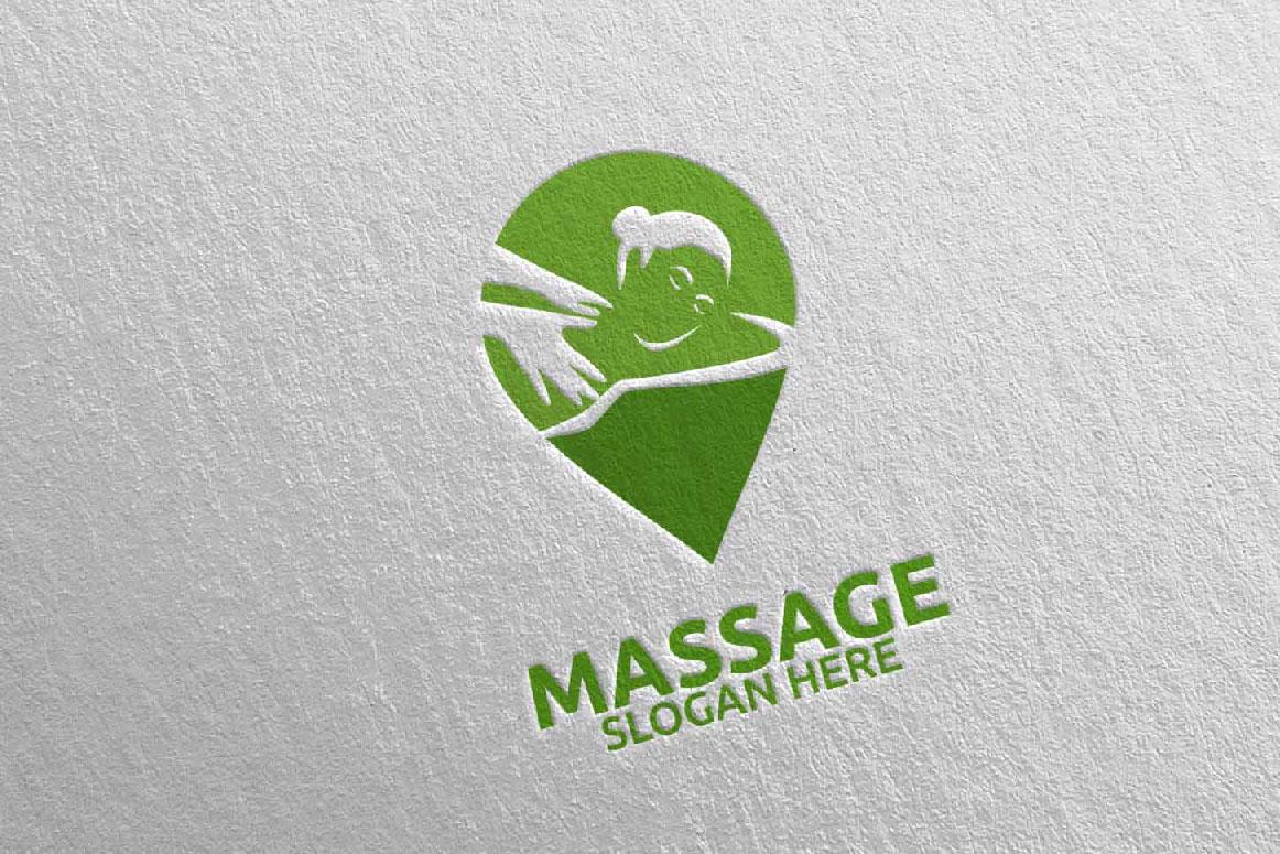 Massage Logo Design 10 example image 2