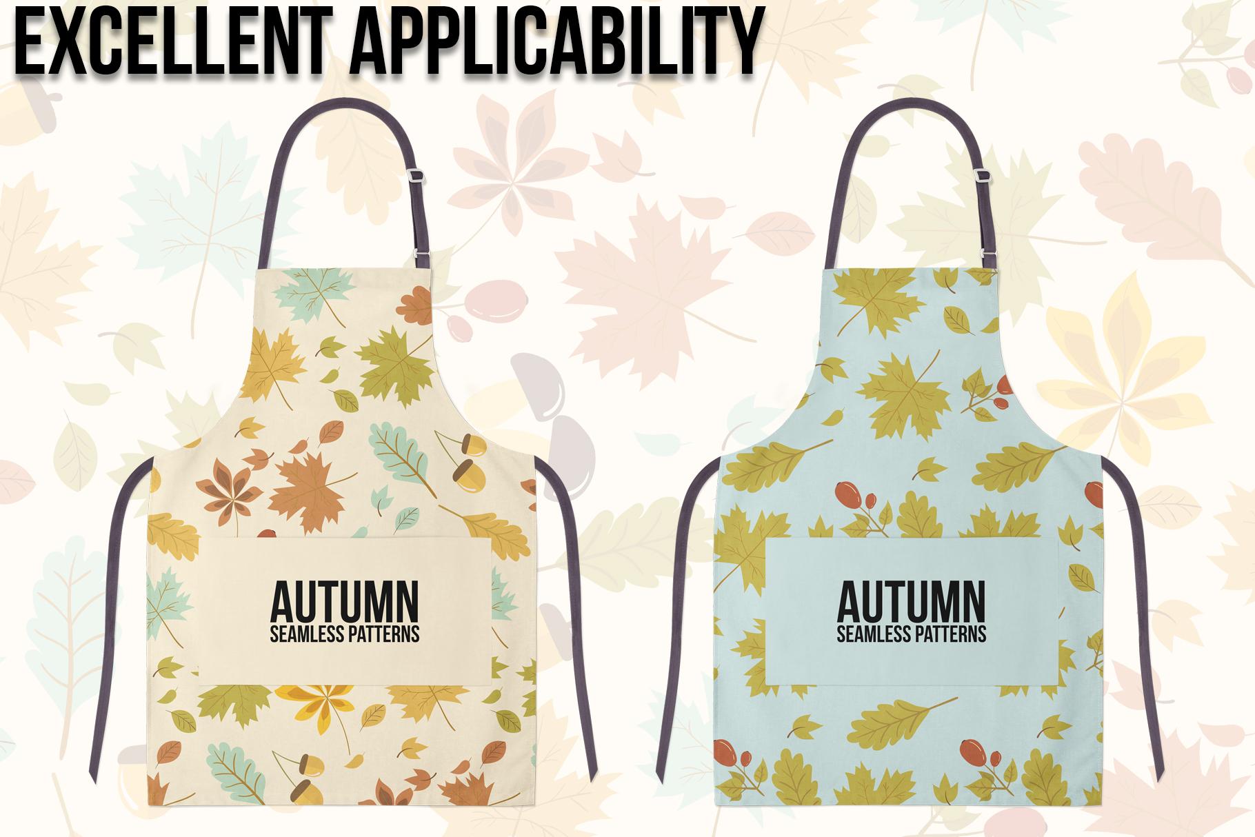 Autumn Seamless Patterns example image 4