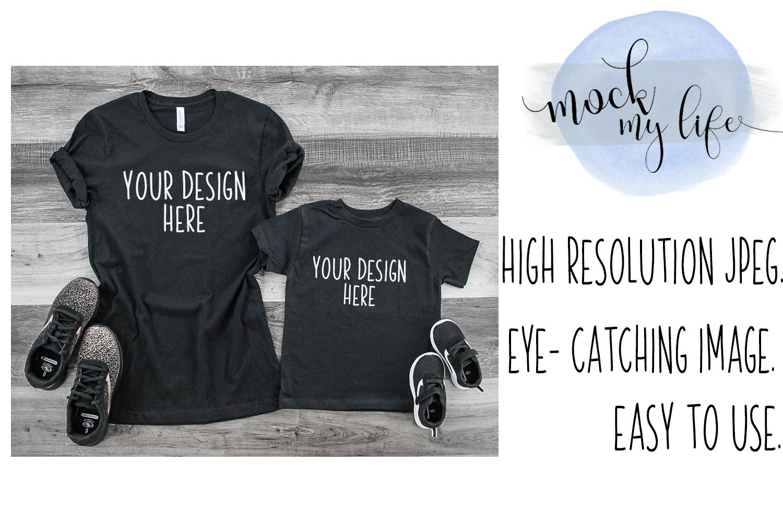 MockUp Bella Canvas Shirt / Shirt Set Mockup example image 1