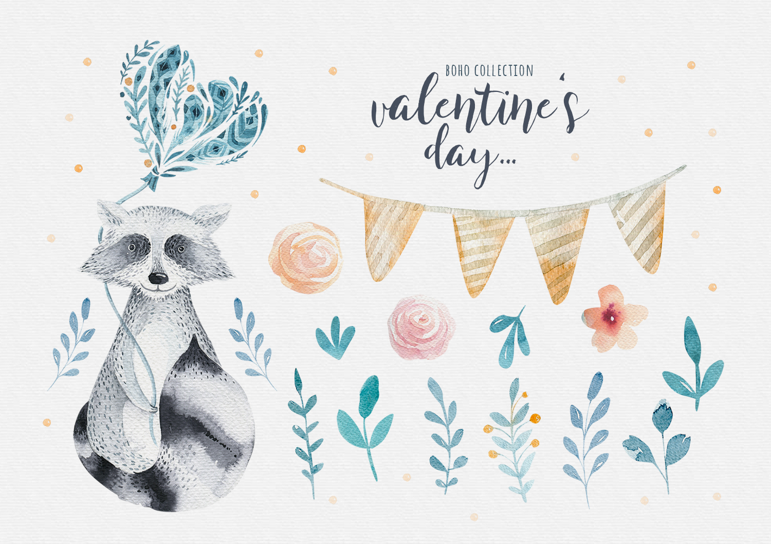 Valentine's Day with raccoons example image 2