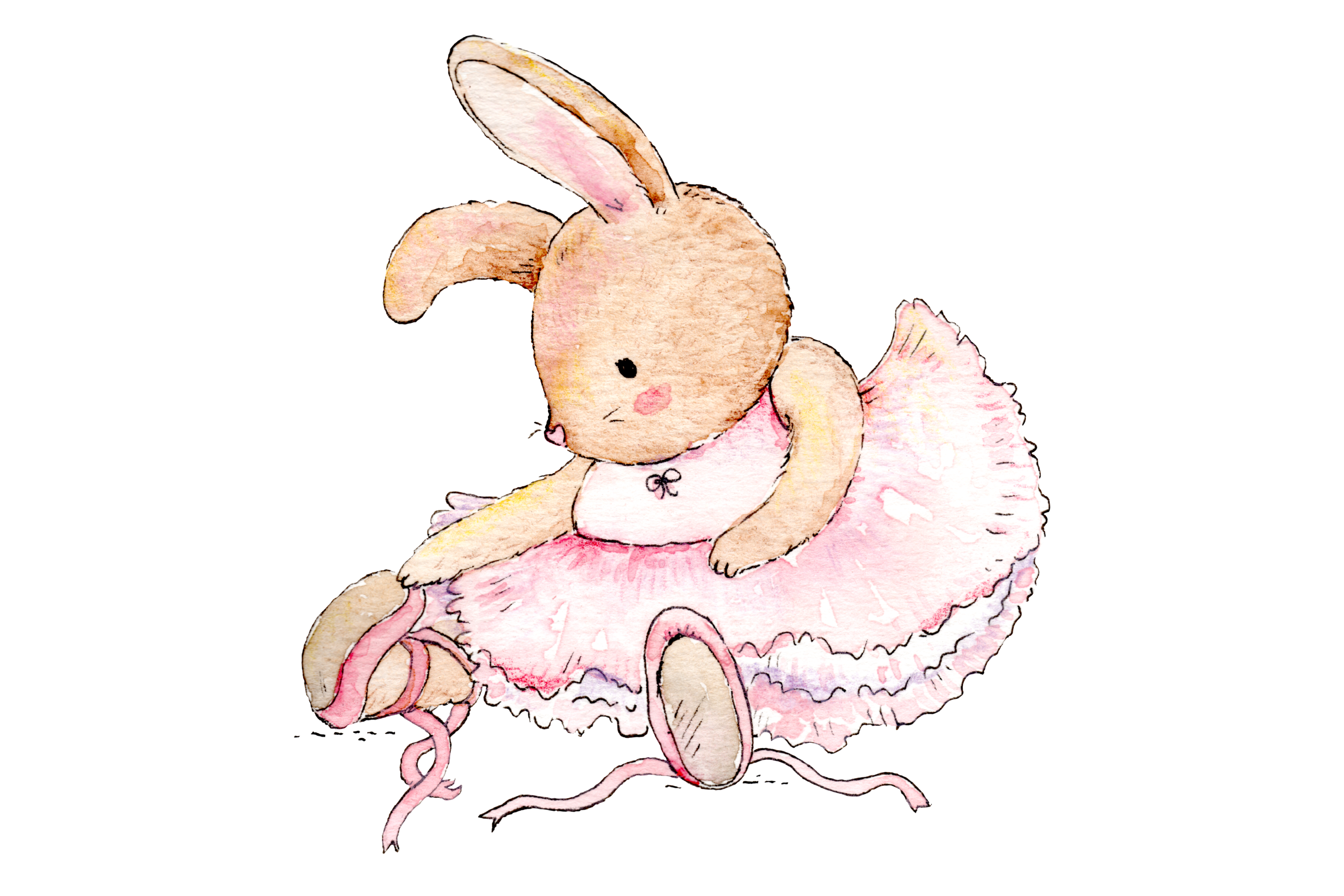Watercolor Ballet Animals | 8 Clip Art Illustrations-PNG/JPG example image 8
