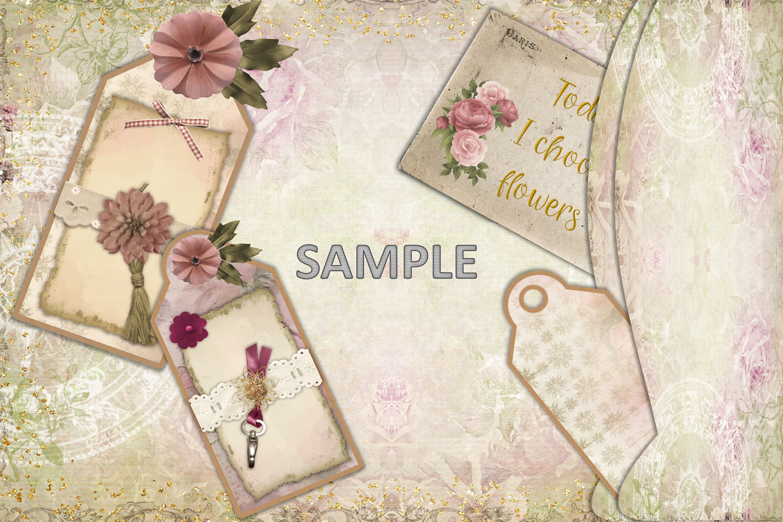 Shabby Chic Vintage Journaling Kit & Free Ephemera & clipart example image 4