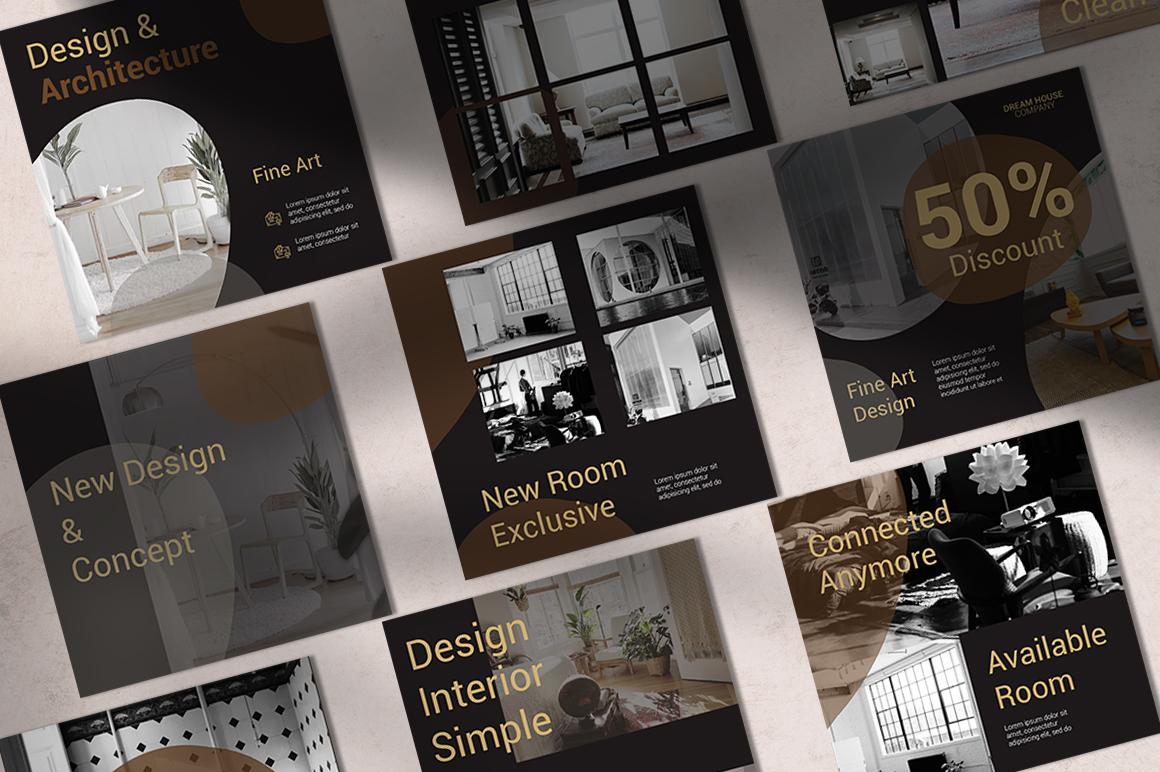 Interior Instagram Templates example image 3