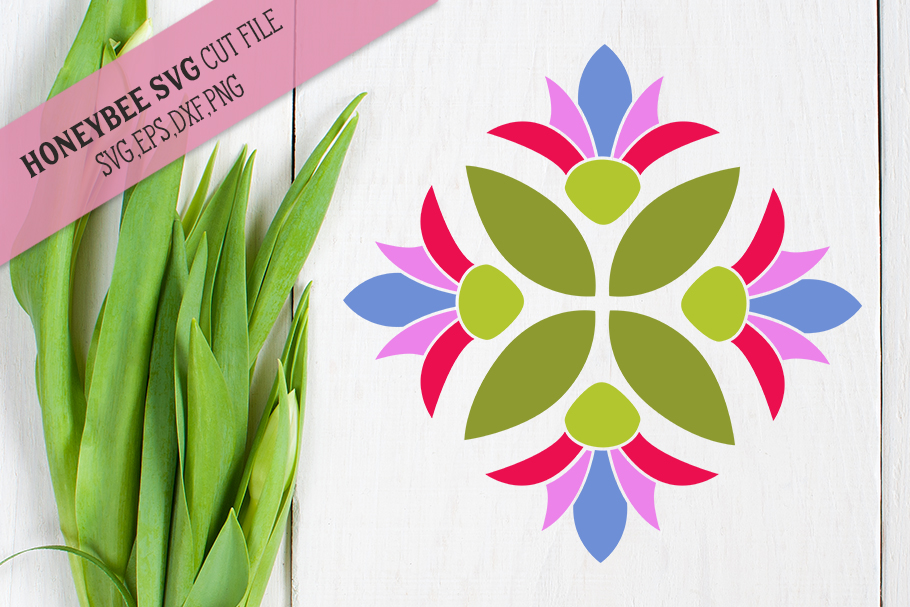 Spring Bloom Barn Quilt SVG Cut File example image 1