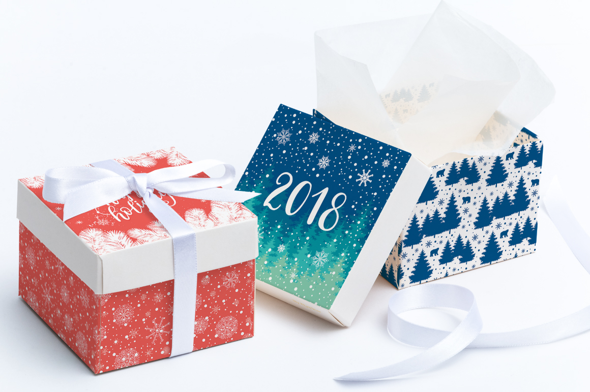 12 Holiday cards + 12 patterns example image 2
