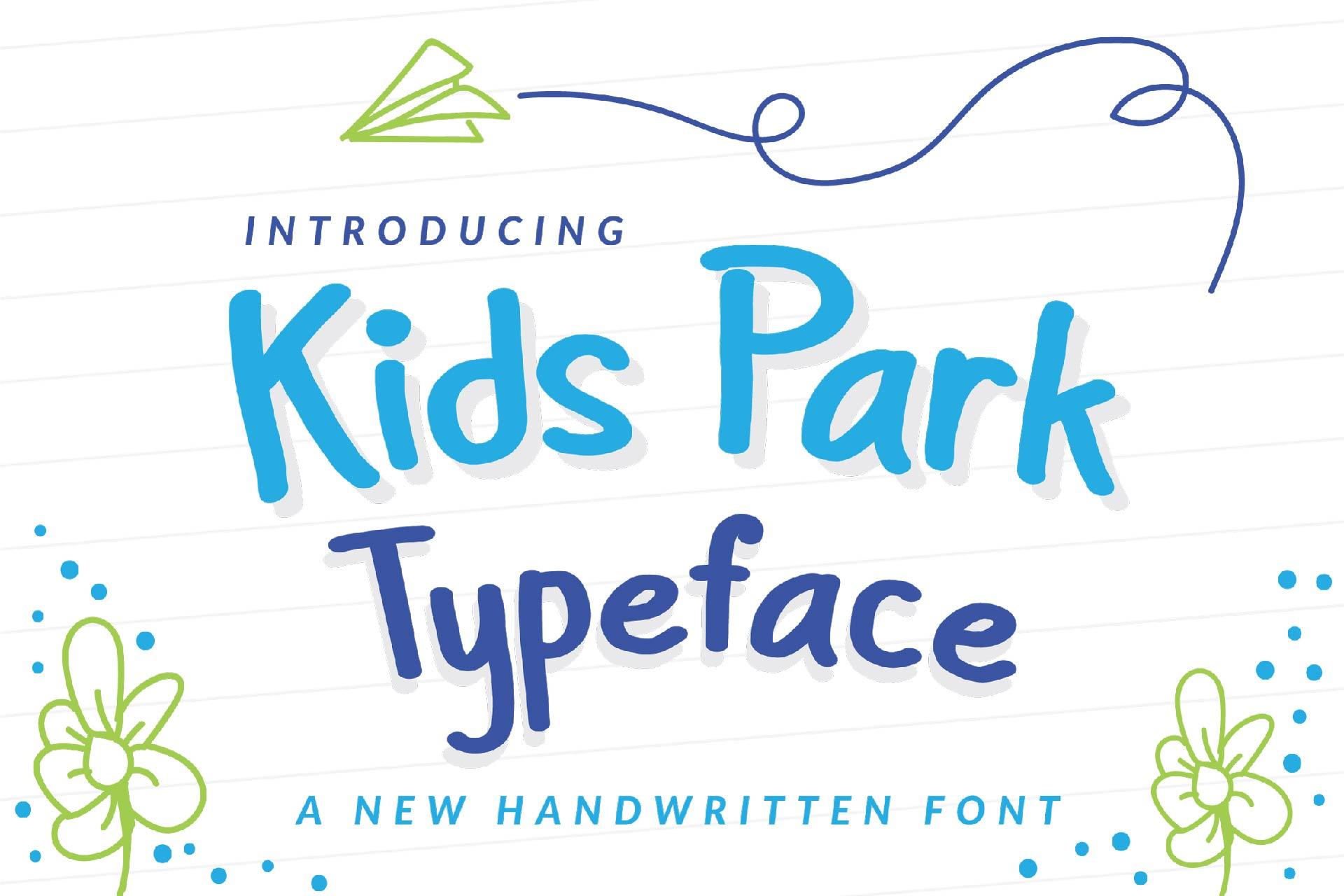 Kids Park - Playful Font example image 1