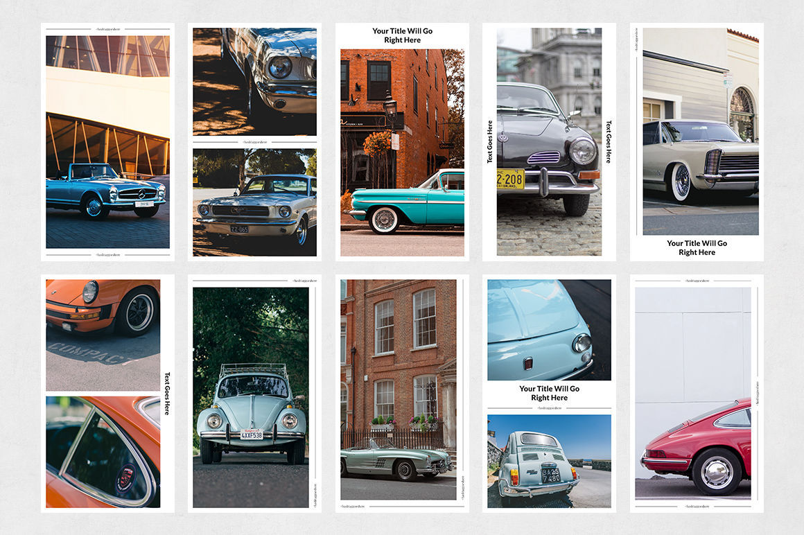 Classic Cars Animated Instagram Stories example image 8