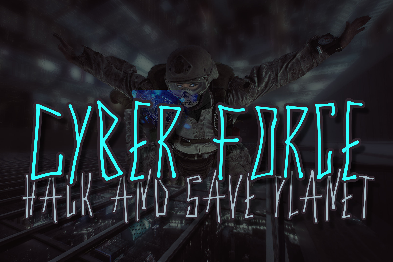 Cyber Trunk - Handwritten Caps Font example image 3