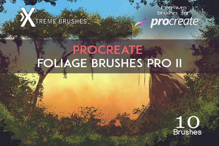 Procreate Foliage Brushes PRO II example image 1