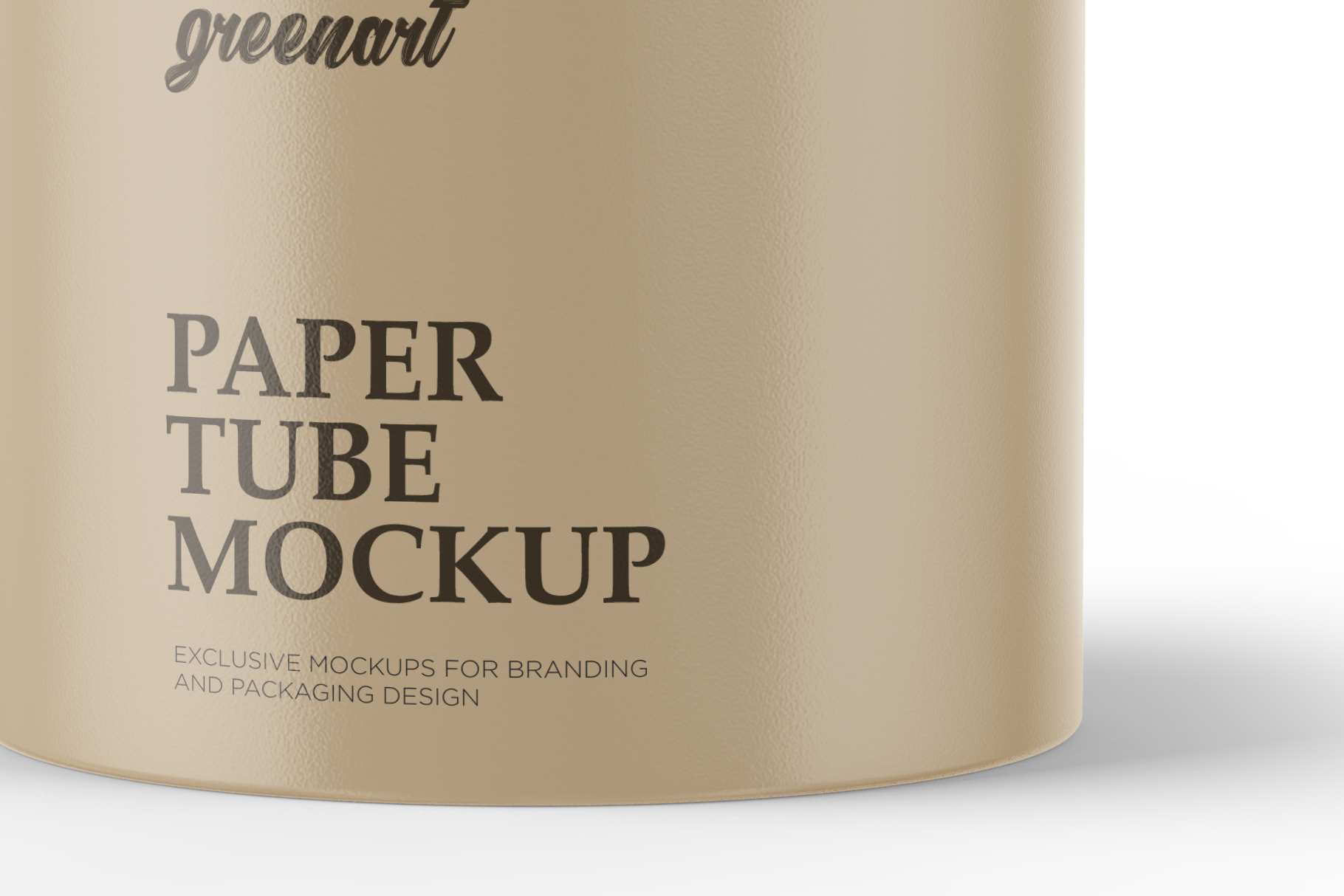 Paper Tube Mockup - Front View example image 4
