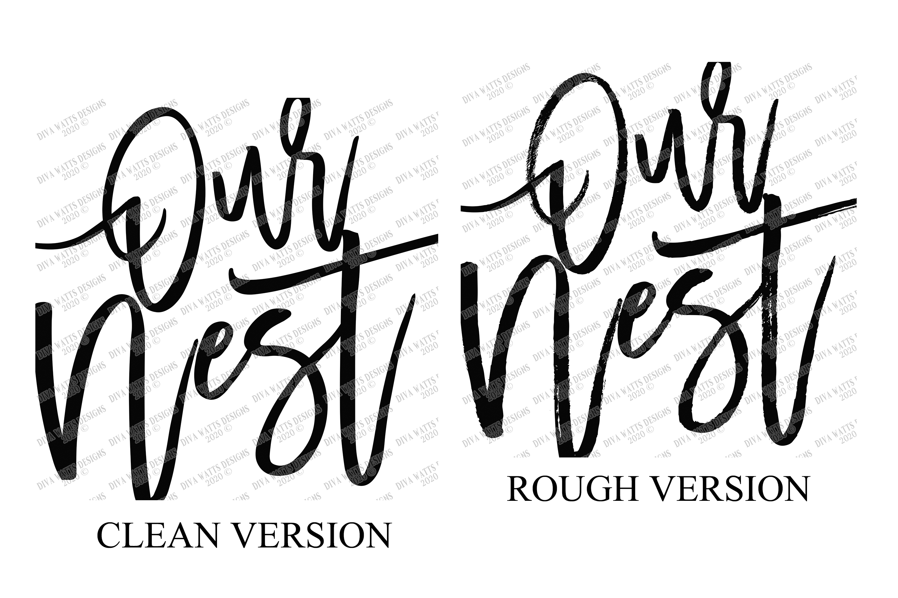 Our Nest - Clean & Rough - Oversized Modern Farmhouse SVG example image 2