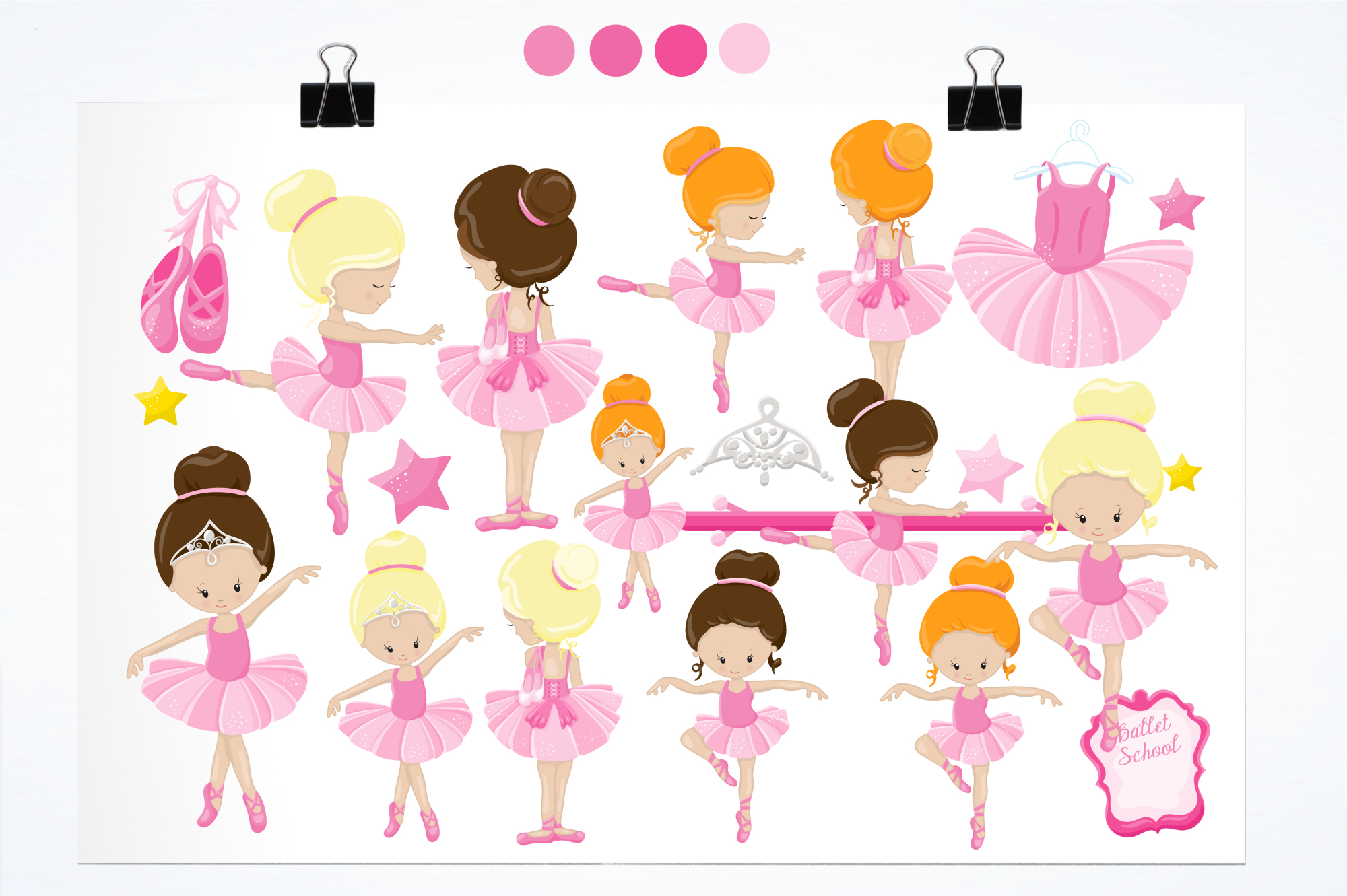Ballet Class  graphics and illustrations example image 2