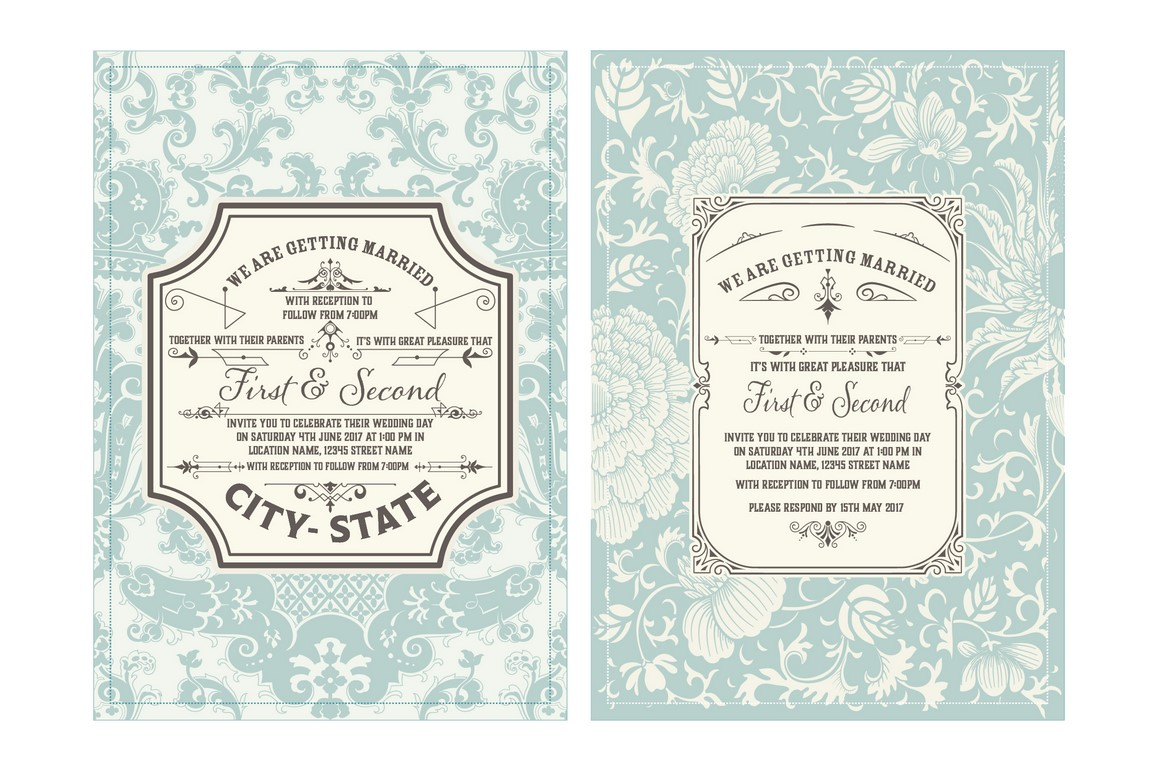 Vintage Wedding Invitation example image 2