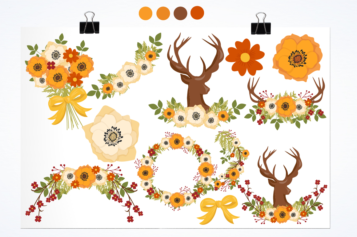 Autumn Woods graphics and illustrations example image 2