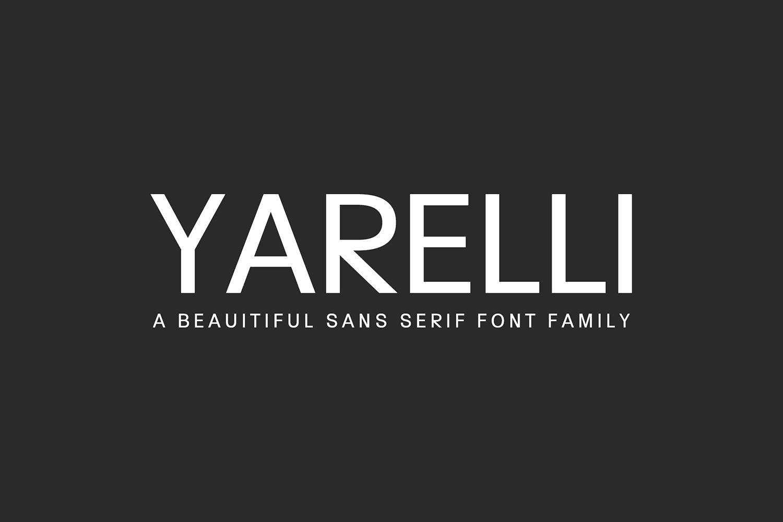 Yarelli Sans Serif Font Family example image 1
