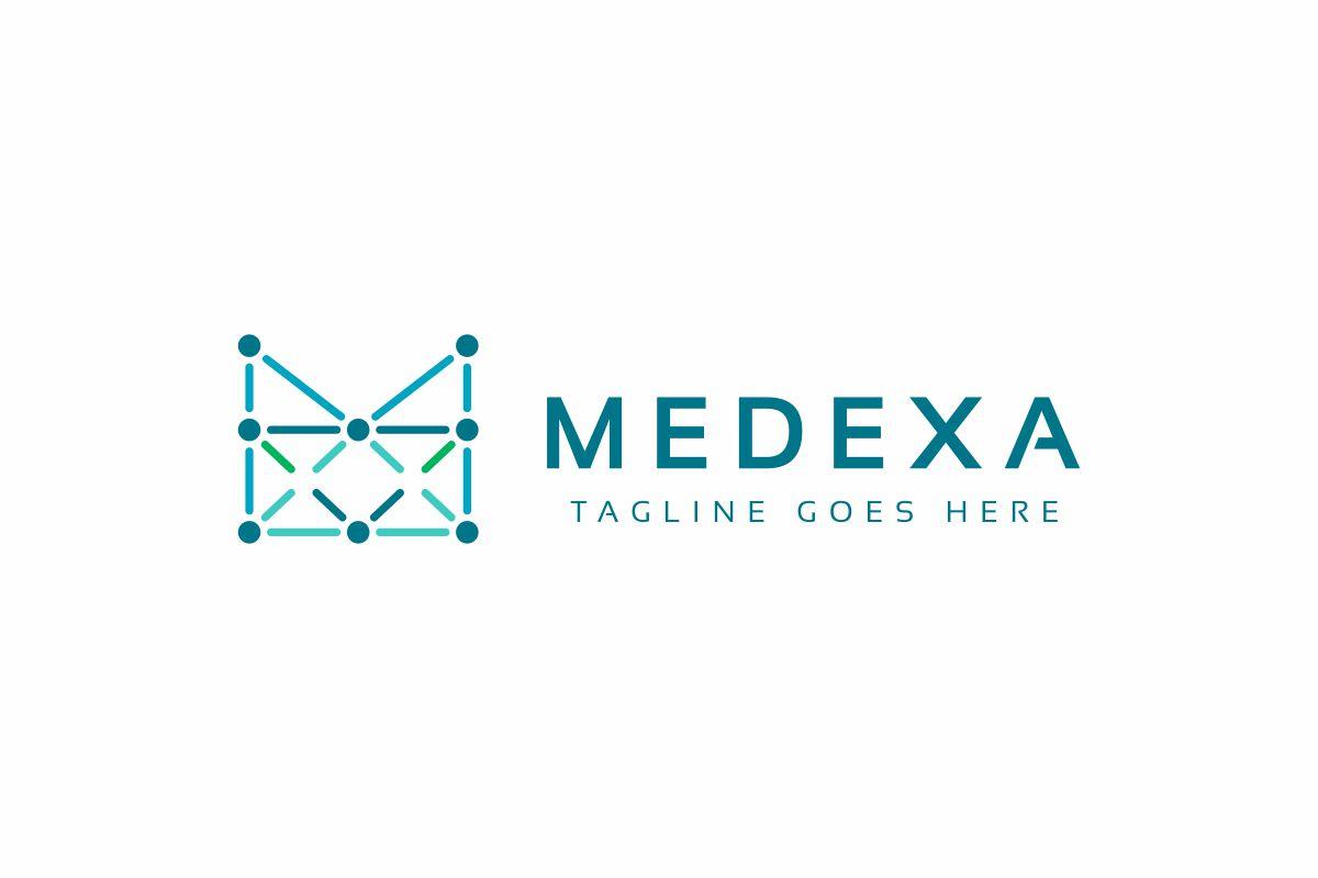 Medexa M Letter Logo example image 3