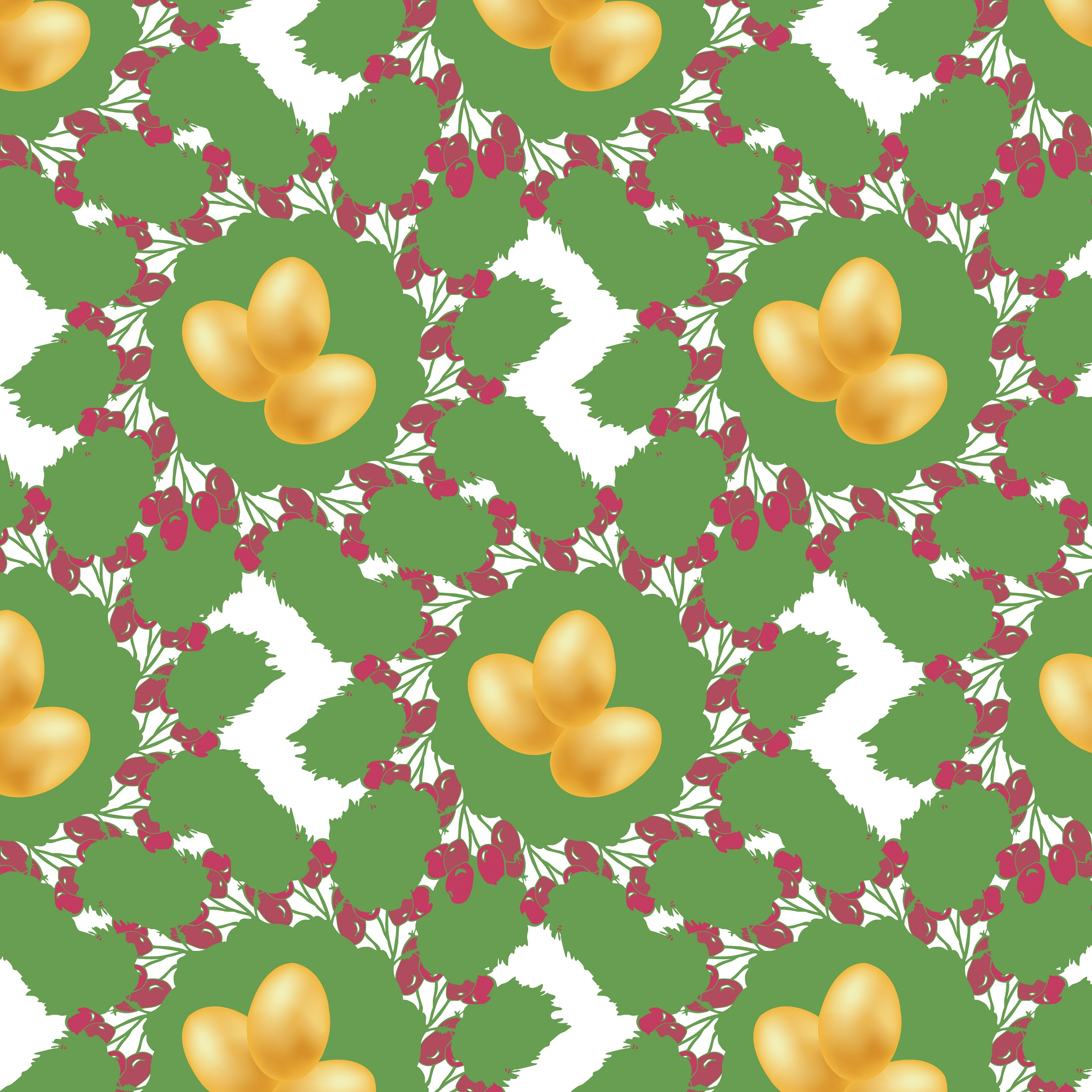 Easter pattern. Seamless pattern with Easter motifs. example image 7