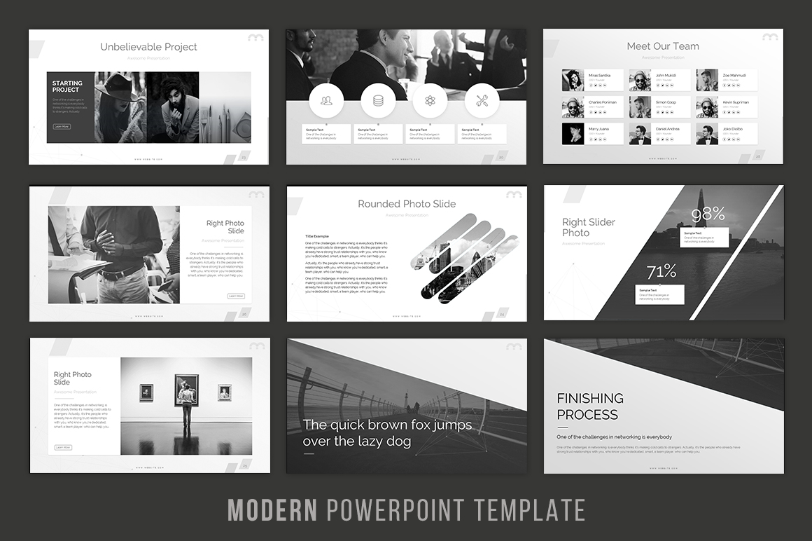 Modern - Powerpoint Template example image 4