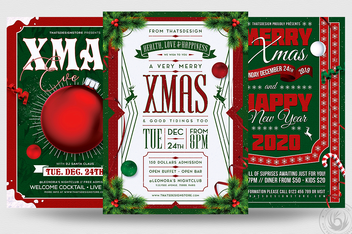 Christmas Eve Flyer Bundle example image 1