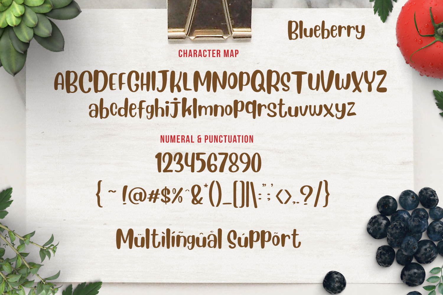 Blueberry - Layered Font example image 4