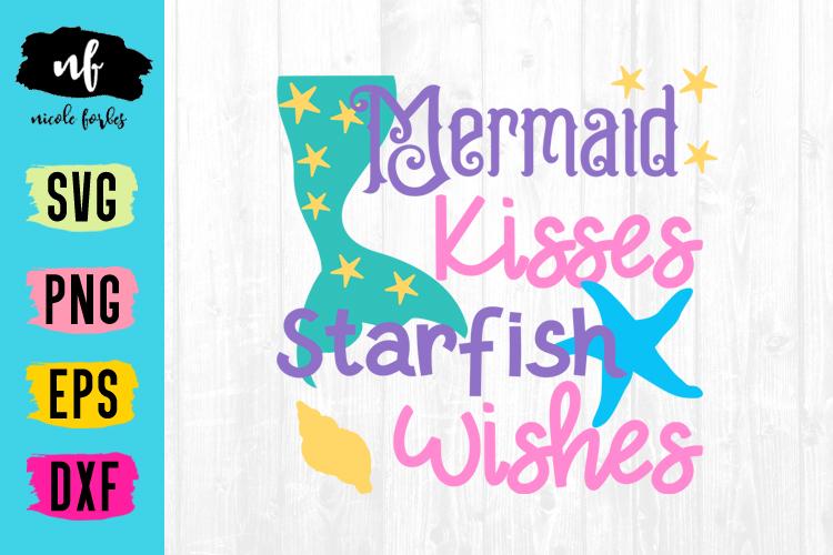 Mermaid Kisses SVG Cut File example image 1
