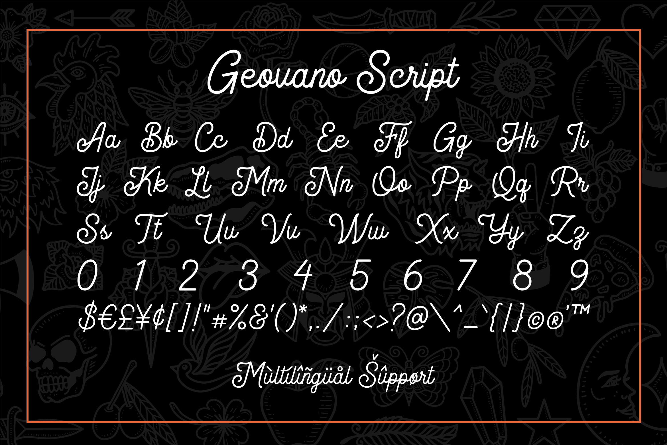Geovano - Vintage Font Family example image 11