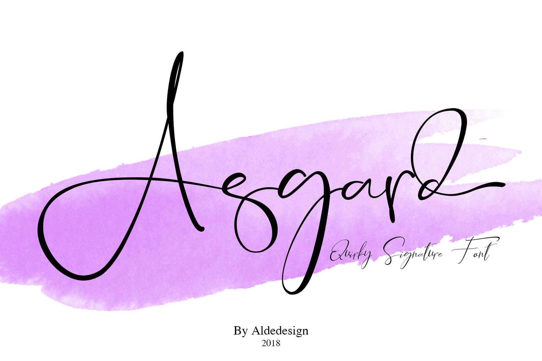 Asgard Signature Font example image 2
