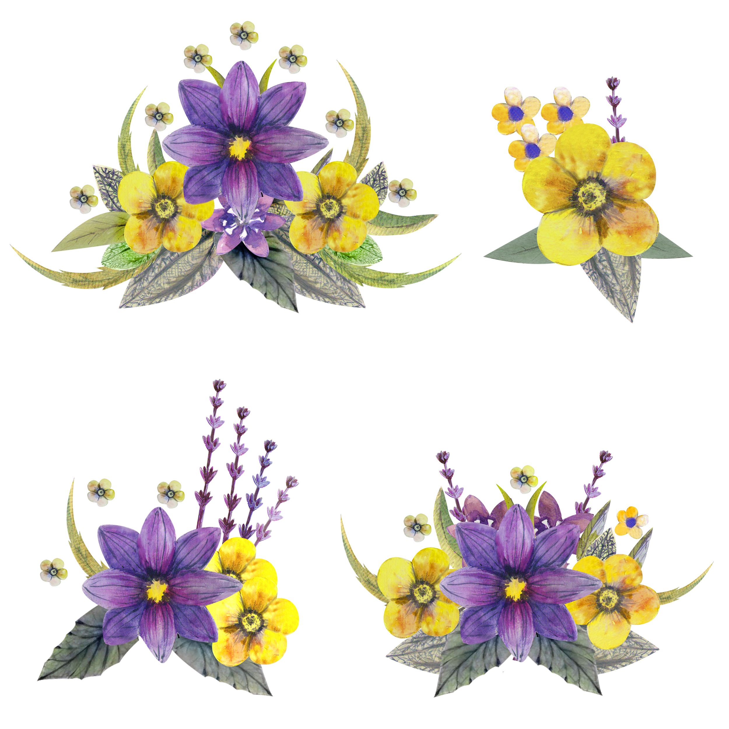 Wild flowers watercolor example image 6