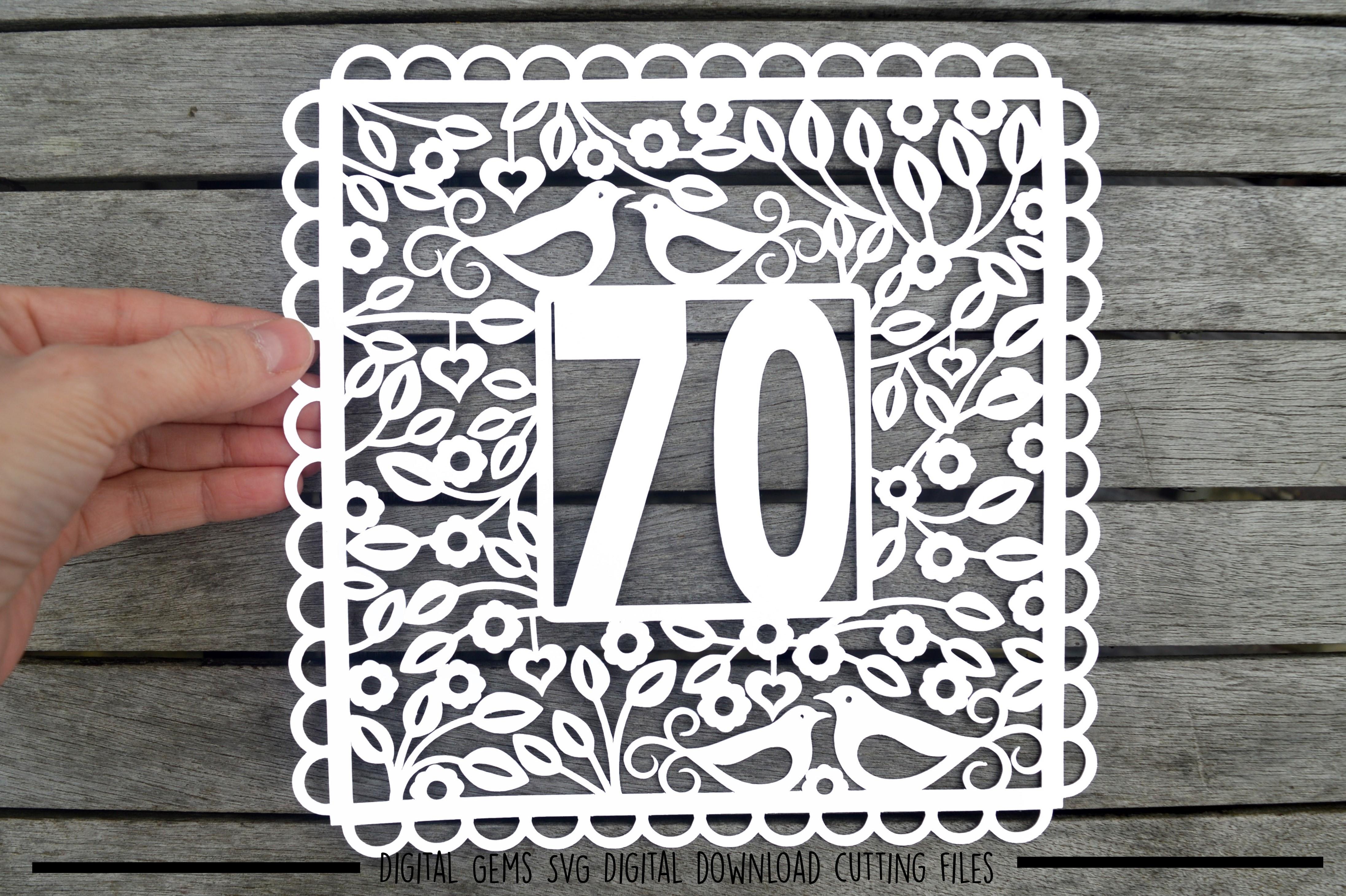 Number 70 Paper Cut Svg Dxf Eps Files 42618 Svgs Design Bundles