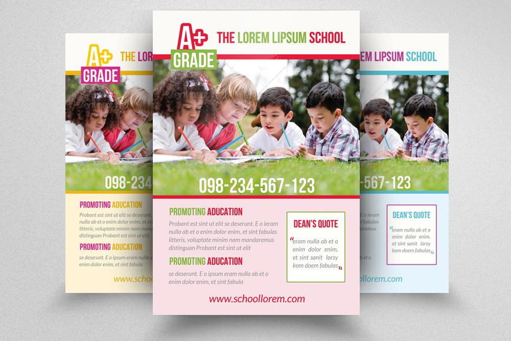 6 Kids School Education Flyers Bundle example image 4