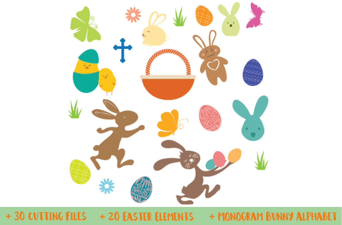 The Easter Bundle - 30 Cutting Files and Extras! example image 4