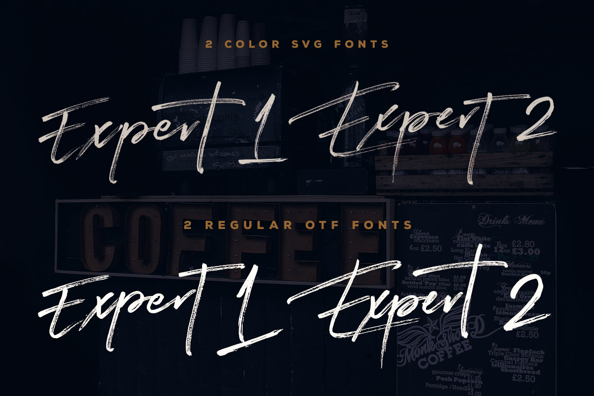 Expert Brush & SVG Font example image 3