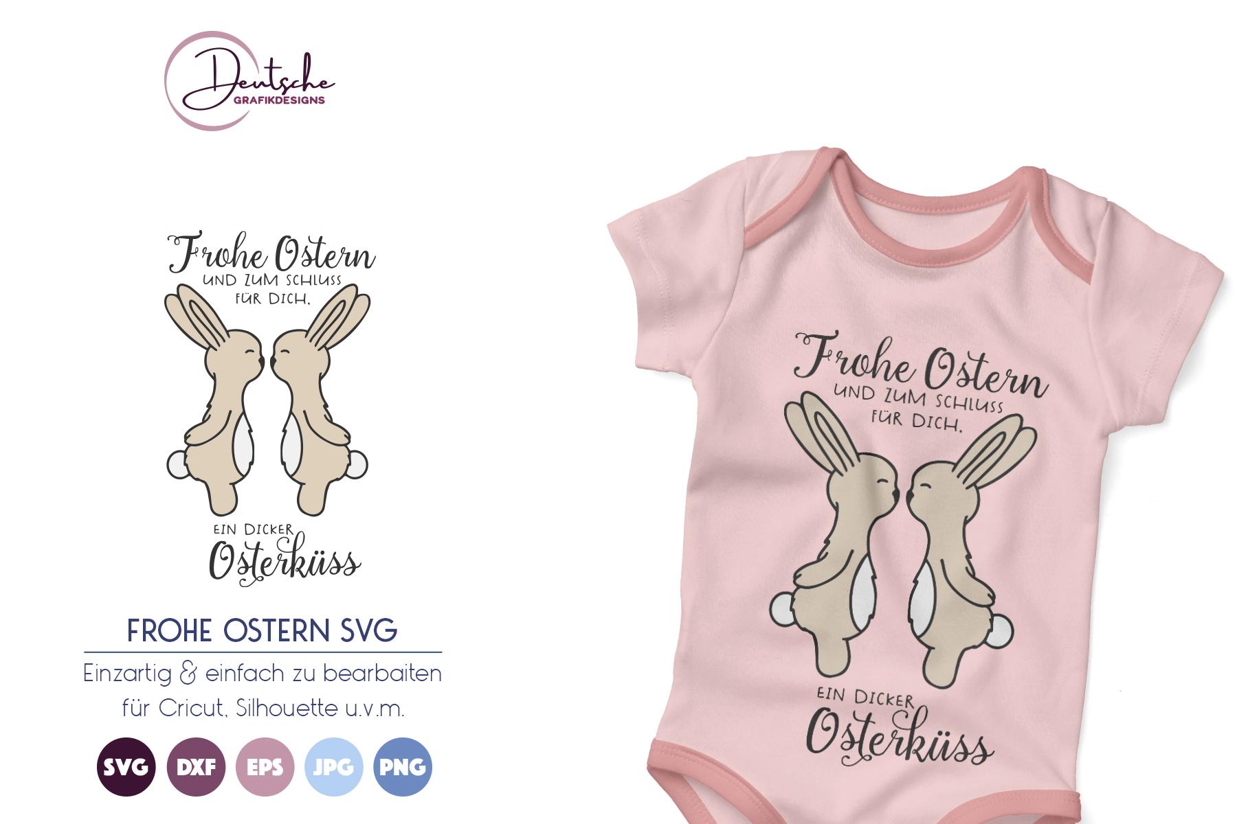 Osterhase SVG | Frohe Ostern | Osterküss example image 1