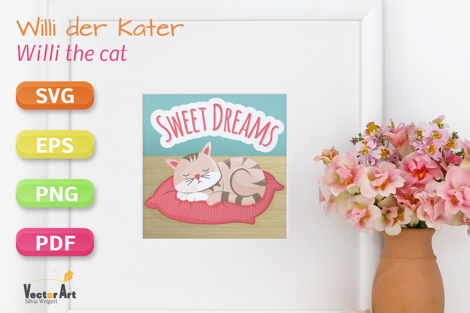 Sleeping Cat - SVG File for Crafters example image 3
