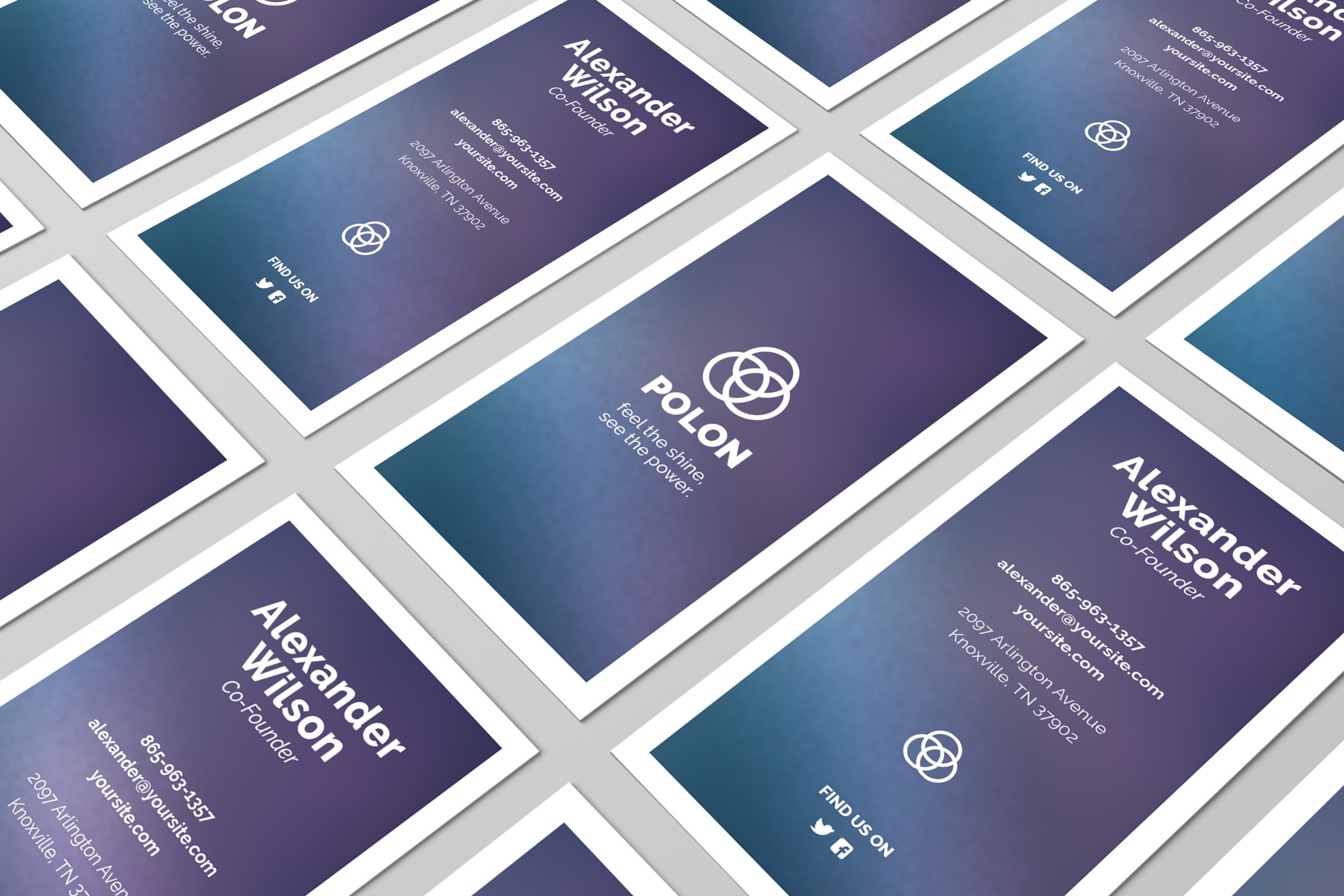 Polon - A Modern Business Card Template example image 3