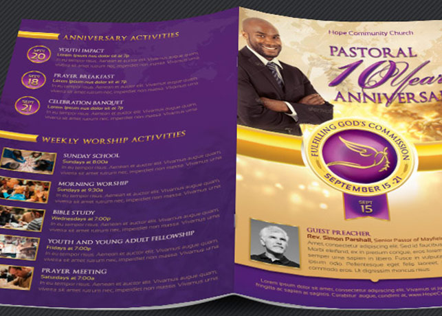 Clergy Anniversary Service Program Template example image 4