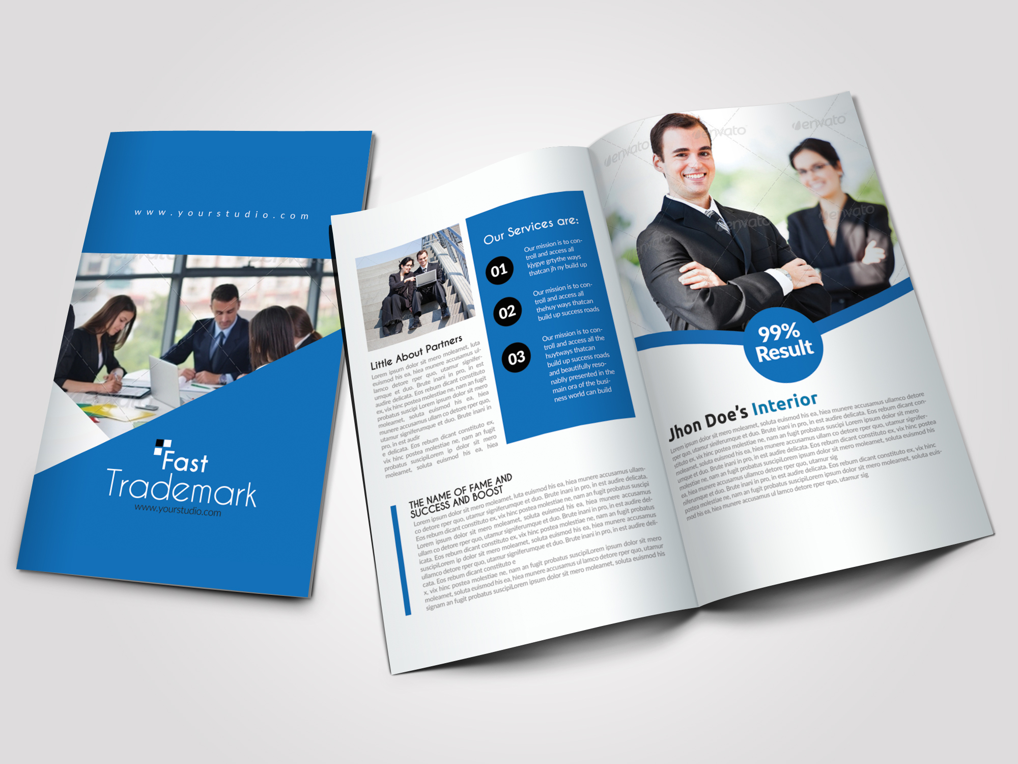 Business Dealing Bifold Brochure example image 1