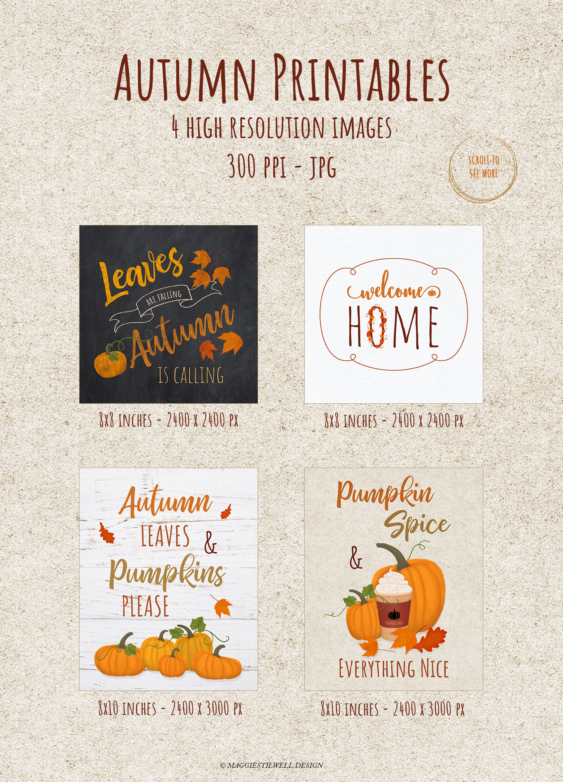 Autumn Printables & Illustrations example image 6