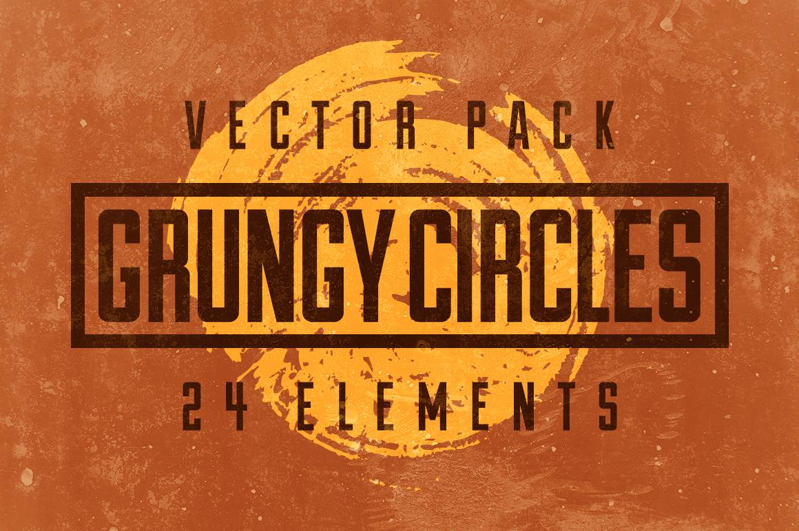 24 Grungy Circles example image 1