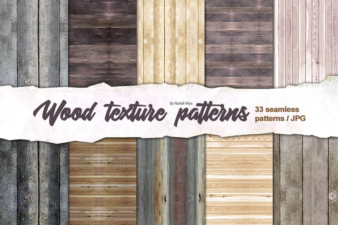 33 wood seamless patterns example image 1