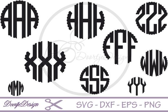 Scalloped Circle font SVG example image 1